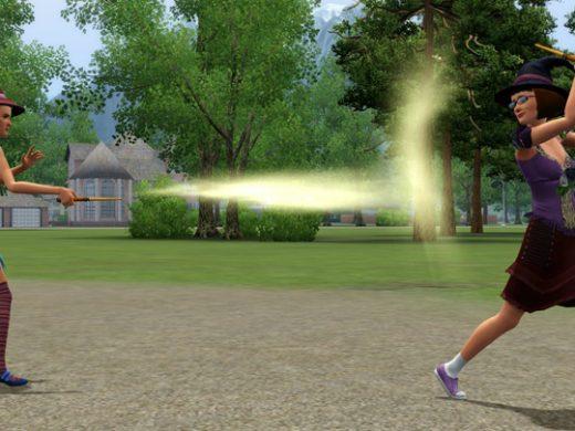 Заклинание ведьм в Sims 3 сверхъестественное