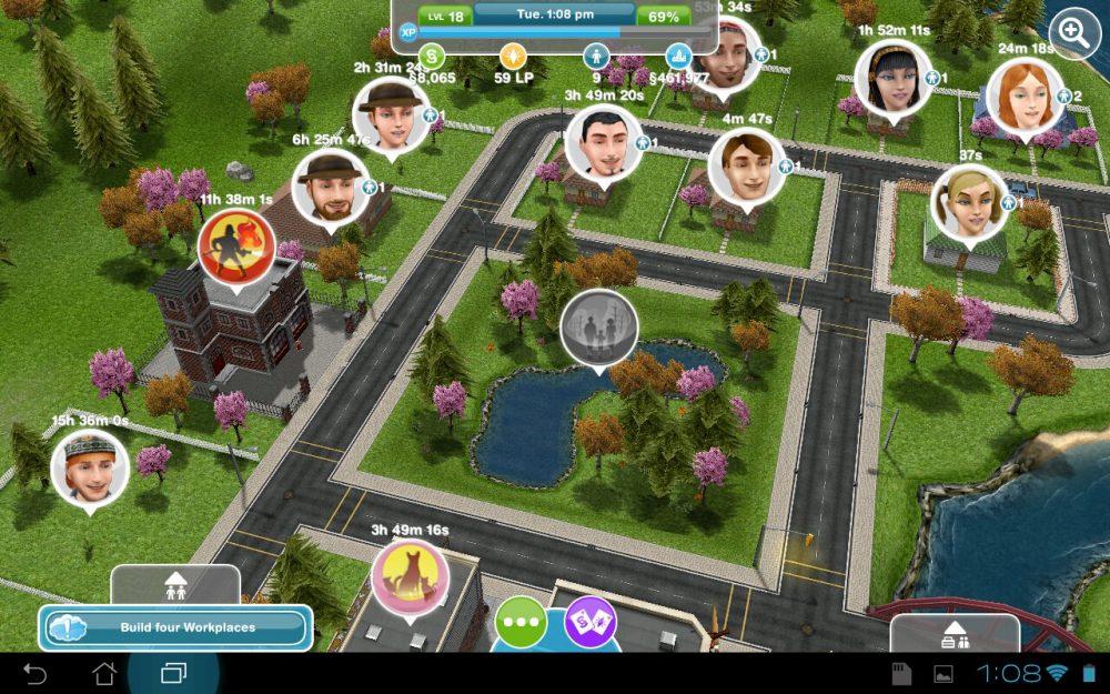 Sims Freeplay на андроид и iOS | Скриншот 3