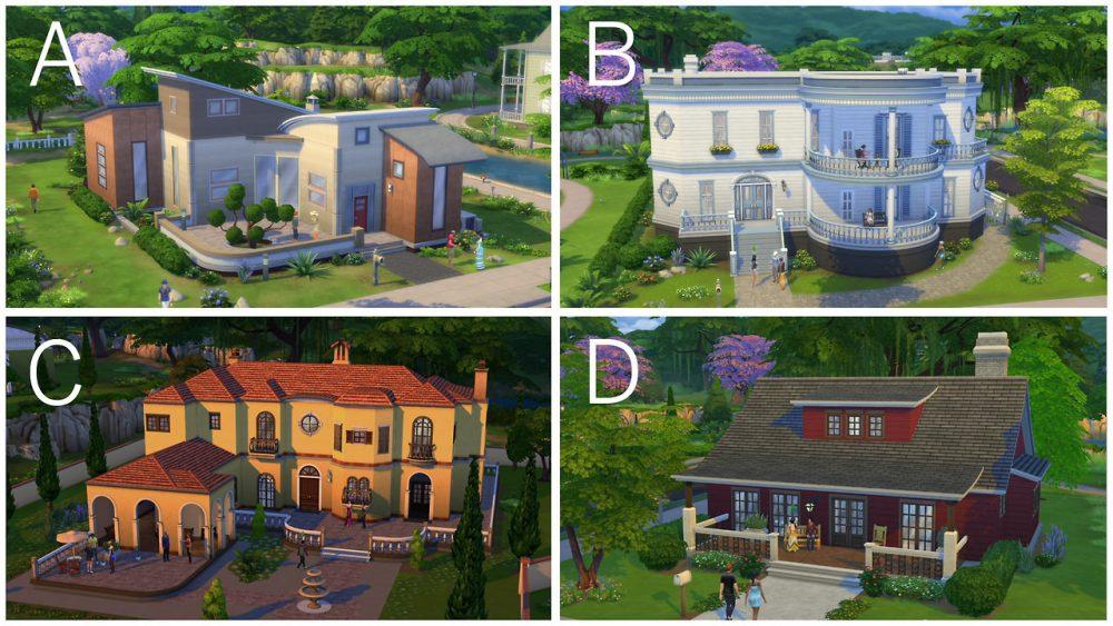 Готовые дома в игре Симс 4