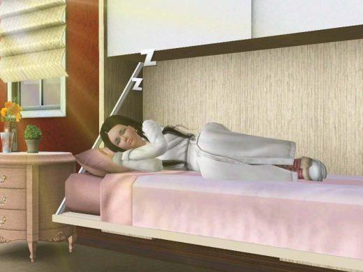 крепко спать в кровати sims freeplay