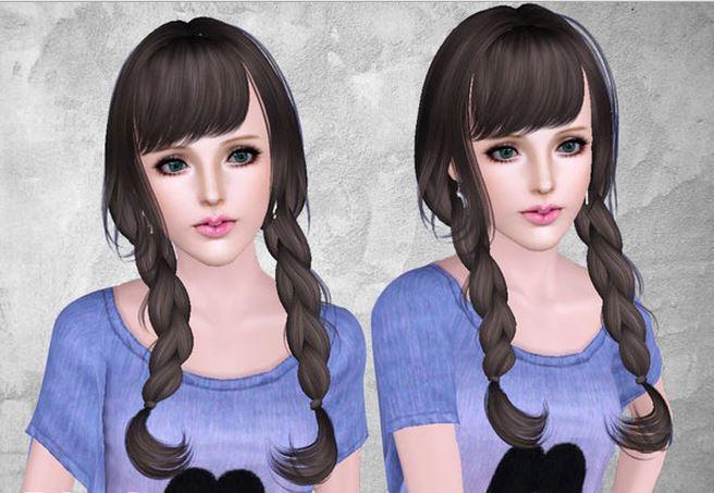 Женские косички для sims 3