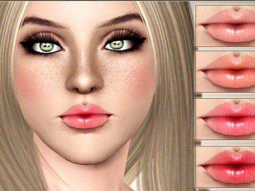 Скачать Помаду «Сладкий поцелуй» для Симс 3