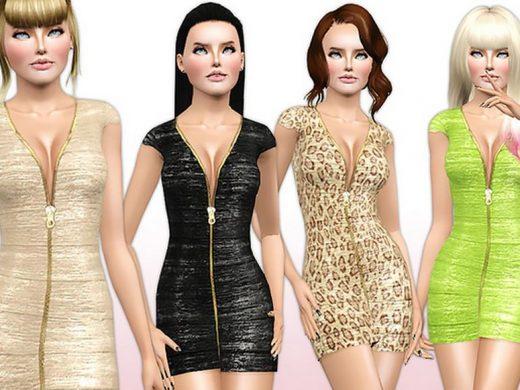 модные платья для Симс 3