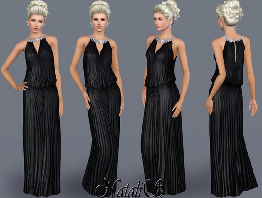 Красивое черное платье для Симс 3