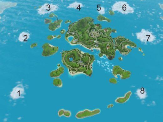 как открыть скрытые острова в Симс 3: Райские острова