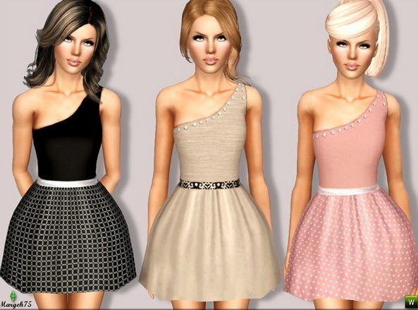 Скачать милое платье для Симс 3