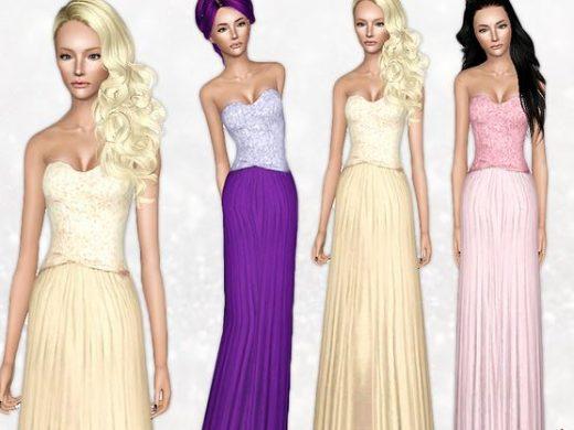 Скачать красивое летнее платье от CherryBerrySim