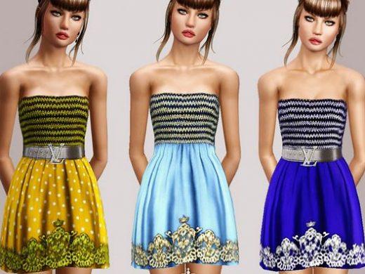 Скачать короткое женское платье с кружевом для подростка