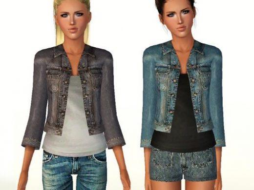Стильная джинсовая куртка для Симс 3