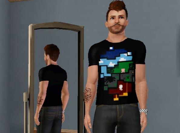 Коллекция футболок Minecraft для Симс 3