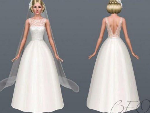 """Свадебное платье """"Счастливая невеста"""" для Симс 3"""