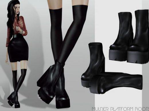 """Женская обувь """"Готическая платформа"""" для Симс 3"""