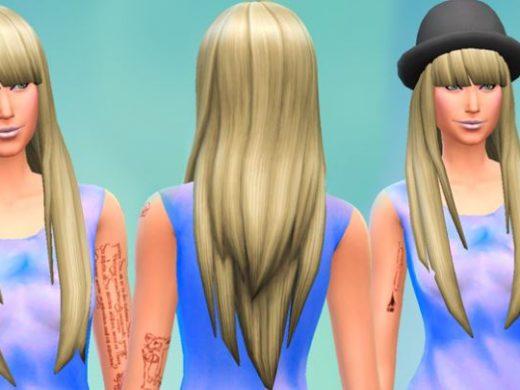 Длинные прямые волосы для Симс 4
