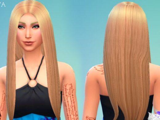Прямые длинные волосы для Симс 4