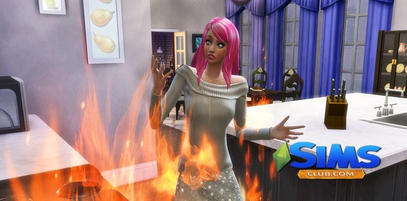 Как устроить пожар в Симс 4