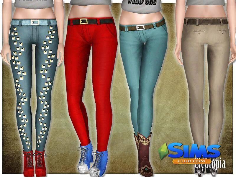 симс 3 женские джинсы