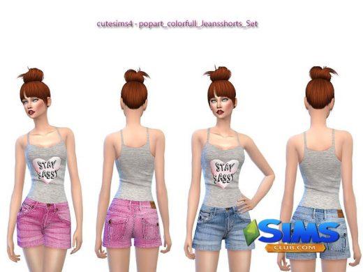 Сolorfull_popart_Jeansshorts_Set