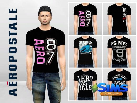 Aero Black Graphic Tees