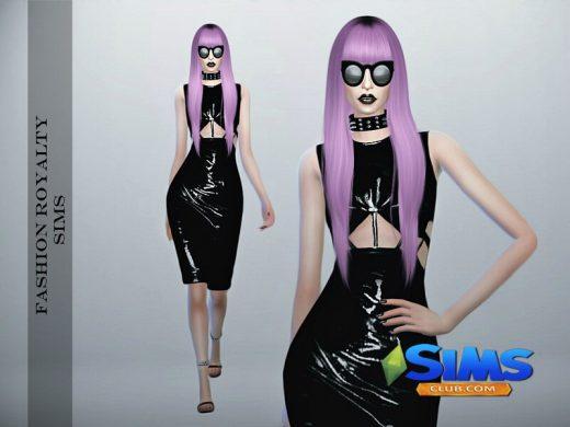Chromat Latex Dress