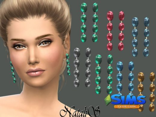NataliS_Drop earrings with cabochons