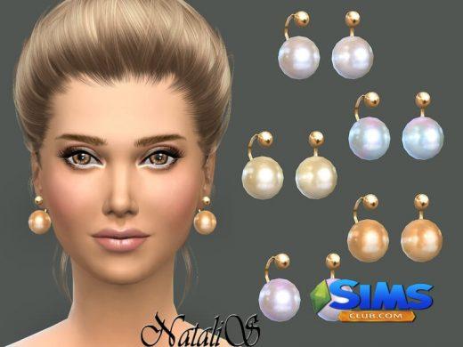 NataliS_Faux pearl earrings