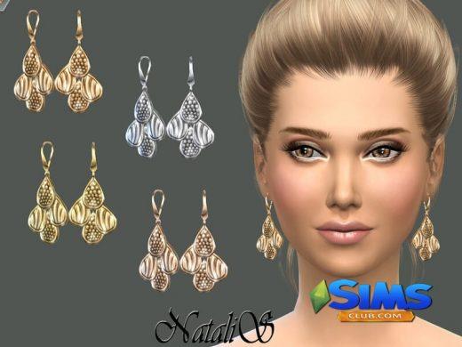 NataliS_Four drop earrings