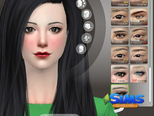 S-Club WM thesims4 Eyebrows 28F