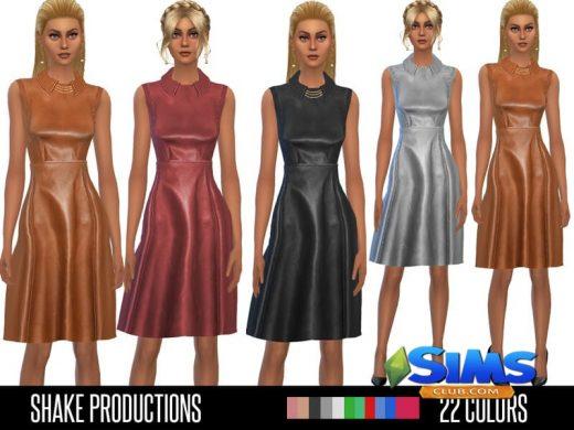 ShakeProductions 34 Leather Dress