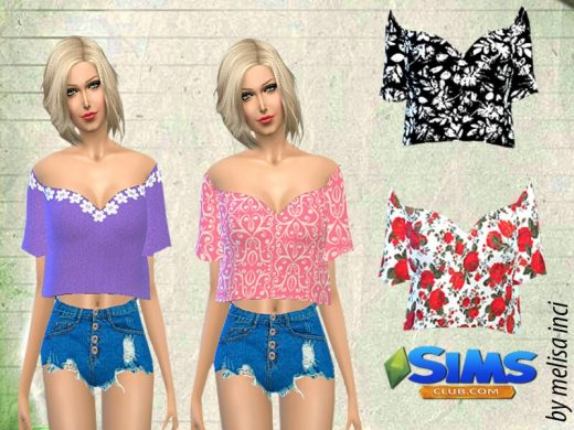 Sleeves Flutter Cropped Top