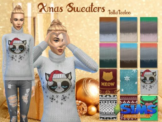 Christmas Sweaters by LollaLeeloo