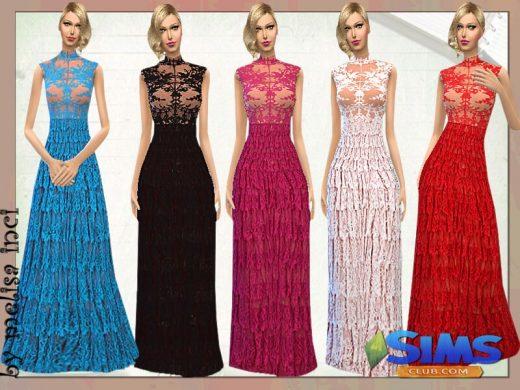 Lace Ruffle Maxi Dress