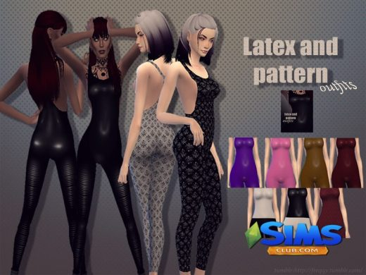 Latex and pattern outfits