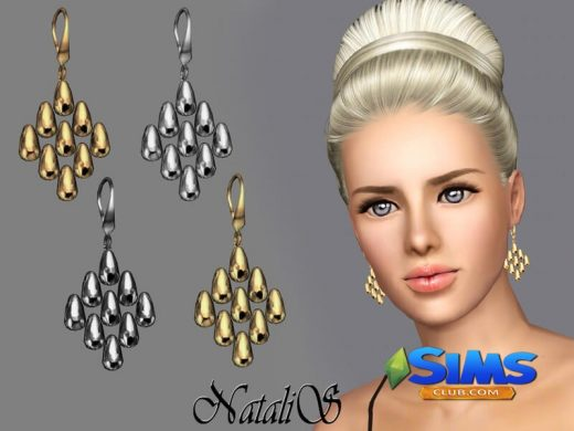 NataliS TS3 Beads cascade drop earrings