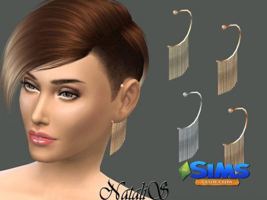 NataliS_Chain Fringe Ear Cuff Left