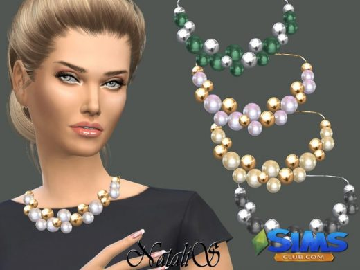 NataliS_Giant pearls and beads necklace