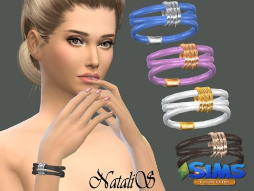NataliS_Leather wrap bracelet with rings