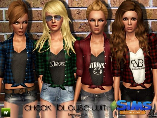 Teen Check Blouse with Top