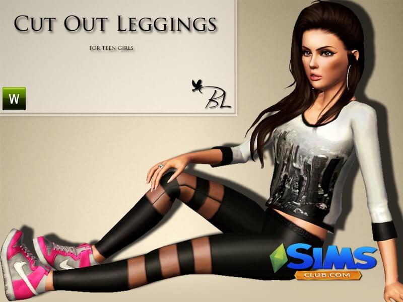 Teen Cut Out Leggings