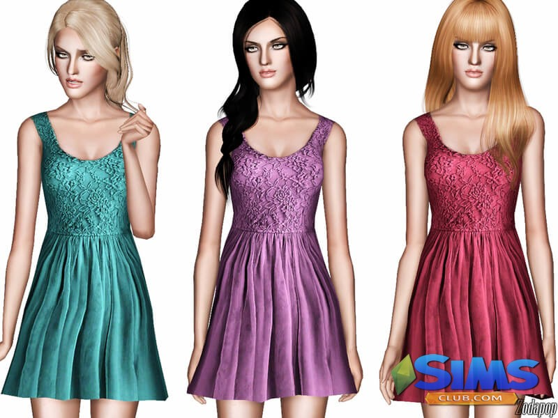 Tulle and Lace Babydoll Dress