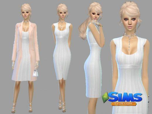 White dress simple but elegant