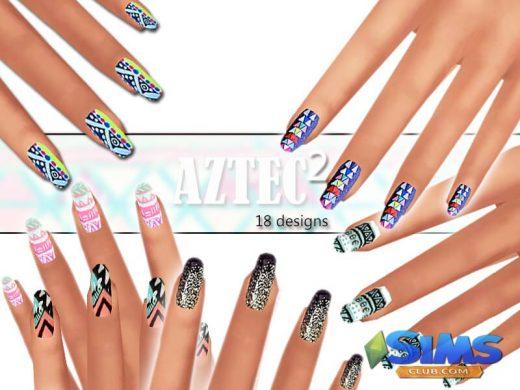 Winter Aztec Nails Pack 02