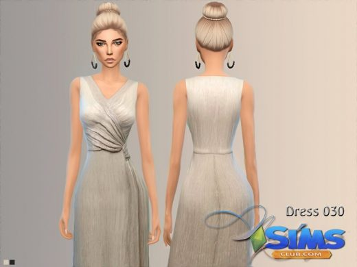 Dress Metallic V Neck Maxi 030