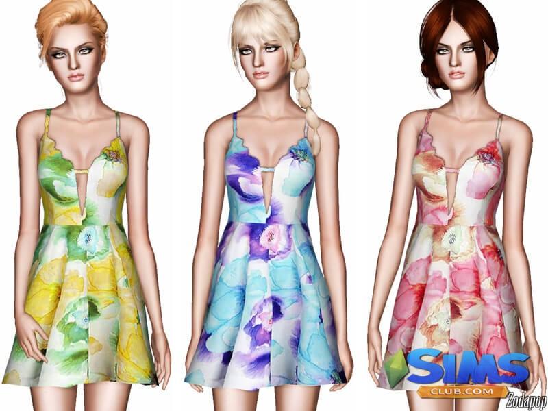 Floral Fit-N-Flare Dress