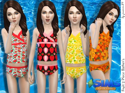 Fruit 2 Piece Bather's for Girls