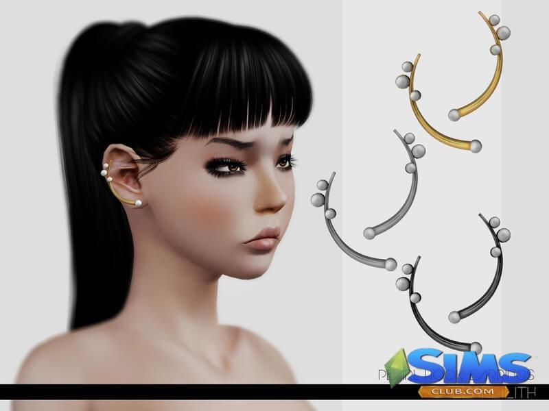 LeahLillith Pearl Hook Earrings