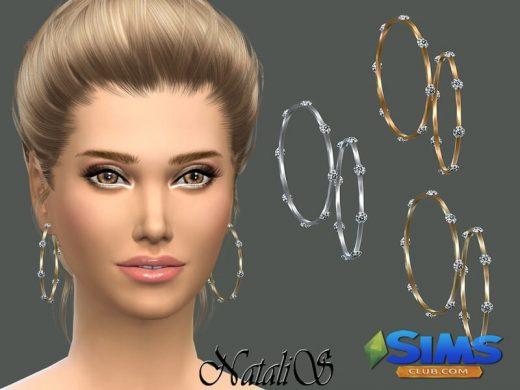 NataliS_Sleek bangles earrings with crystals