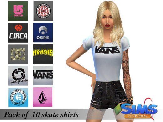 Skate shirts set