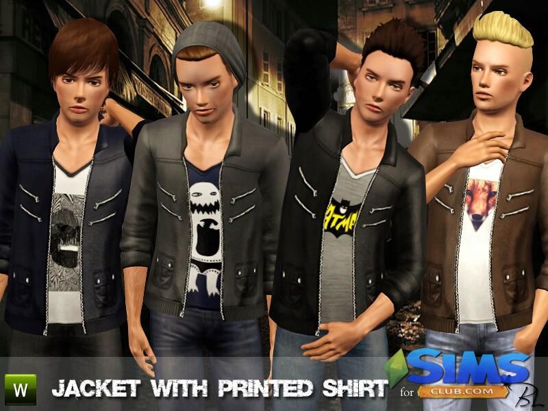 Teen Jacket with Printed Shirt