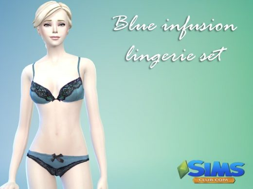 Blue infusion lingerie