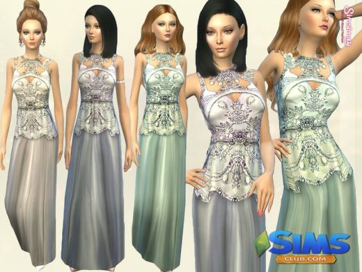 Elucia Embellished Gown